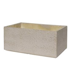 Fiber Clay Planters & Flower Pots - Fibreclay Trough Rectangle Beige (50x31x22cmH)