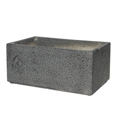 Fiber Clay Planters & Flower Pots - Fibreclay Trough Rectangle Grey (50x31x22cmH)