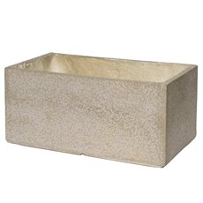 Fiber Clay Planters & Flower Pots - Fibreclay Trough Rectangle Beige (56x37x28cmH)