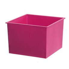 Plastic Flower Box Planter - Plastic Posie Box Hot Pink (14x14x10cmH)