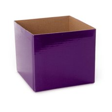 Posie Flower Box Mini - Posy Box Mini Aubergine (13x12cmH)