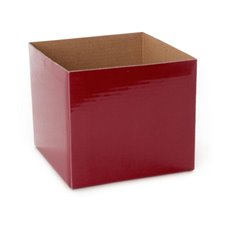 Posie Flower Box Mini - Posy Box Mini Burgundy (13x12cmH)