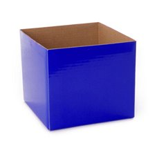 Posie Flower Box Mini - Posy Box Mini Cobalt Blue (13x12cmH)