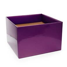 Posie Flower Box Large - Posy Box Large Aubergine (22x14cmH)