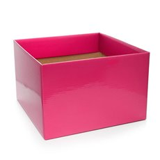 Posie Flower Box Large - Posy Box Large Hot Pink (22x14cmH)
