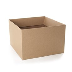 Posy Box Medium No.6 16x16x12cmH with Flap Natural Kraft