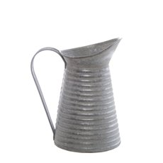 Tin Metal Watering Can & Jug - Tin Vintage Jug Vase Antique Zinc (12.5cmDx22cmH)