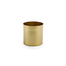 Brass Finish Pot Planters - Metal Pot Round Brass Gold (10x10cmH)