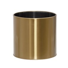 Brass Finish Pot Planters - Metal Plant and Arrangement Pot XLarge Brass Gold (24x23cmH)