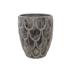 Home Decor Metal Pot Planters - Metal Modern X- Large Pot Pewter Silver (37x37x44.5cmH)