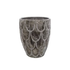 Home Decor Metal Pot Planters - Modern Metal Pot Large Pewter Silver (31x31x38.5cmH)