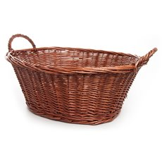Storage Baskets & Boxes - Willow Laundry Oval Dark Brown (59x43x24cmH)