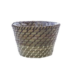 Palau Seagrass Woven Pot Ombre Brown (18Dx12cmH)