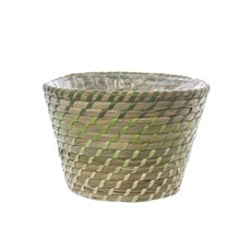 Palau Seagrass Woven Pot Ombre Lime (18Dx12cmH)
