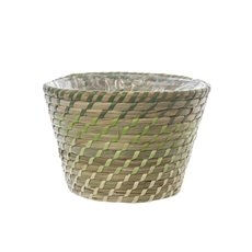 Palau Seagrass Woven Pot Ombre Lime (25Dx17cmH)