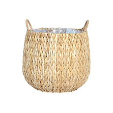 Flower Planter Pots - Fiji Seagrass Planter Natural (19Dx24cmH)