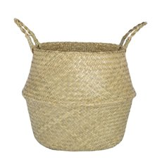 Flower Planter Pots - Tonga Seagrass Planter Basket Natural (38Dx33cmH)