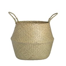 Flower Planter Pots - Tonga Seagrass Planter Basket Natural (31Dx28cmH)