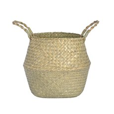 Flower Planter Pots - Tonga Seagrass Planter Basket Natural (27Dx26cmH)