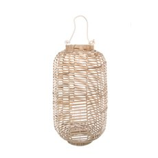 Willow Lantern with Glass Candle Holder (28x50cmH)
