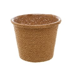 Woven Planter Pot with PVC Liner Natural (13x13x12cmH)