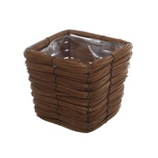 Planter Basket Square Natural Brown (16x16x12cmH)