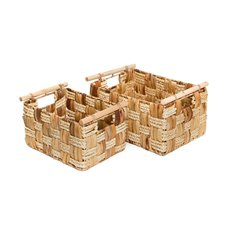 Breton Basket Storage Set of 2 Natural (36x26x19cmH)
