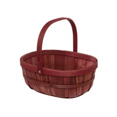 Tray Barrel with Handle Red (32x23.5x12.5cmH)