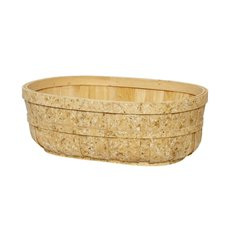 Hamper Tray & Gift Basket - Two Tone Barrel Tray Natural (35x26x12cmH)