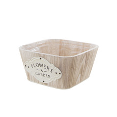 Wooden Planters Pot Covers - Nature Touch Wooden Square Planter (22x22x10cmH)