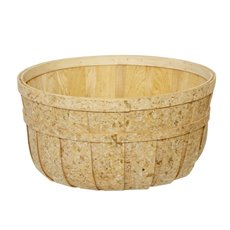 Hamper Tray & Gift Basket - Wood Basket Round Natural (35x18cmH)