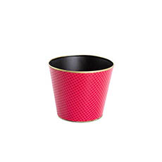Wooden Planters Pot Covers - Madison Tin Bucket Pot Red (16x13.5cmH)