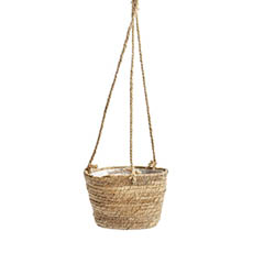 Gifts & Decorative Planters - Maya Grass hanging Basket Round  Natural (22Dx16.5cmHx68TH)