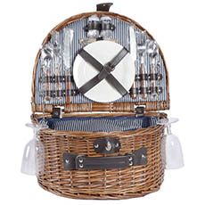 Picnic Baskets - 2 Person Picnic Basket Brown (40x30x19cmH)