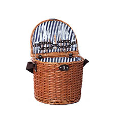 Picnic Baskets - 2 Person Picnic Basket Brown (38x30x32cmH)