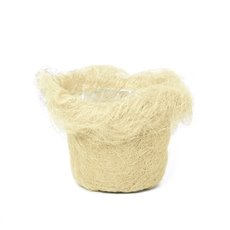 Planter Insert Artificial Sisal 14x12cmH Natural