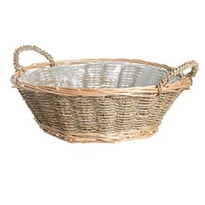 Seagrass Willow Tray Round Natural (34cmDx12cmH)