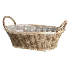 Seagrass Willow Tray Oval Natural (35x25x12cmH)
