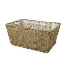 Hamper Tray & Gift Basket - Seagrass Tray Rectangle Natural (33x25x16cmH)