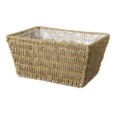 Hamper Tray & Gift Basket - Seagrass Tray Rectangle Natural (28x20x14cmH)