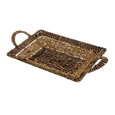 Seagrass Tray Rectangle Brown (36x25x5cmH)