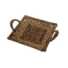 Seagrass Tray Square Brown (31x31x5cmH)
