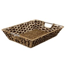 Seagrass Tray Diamond Rectangle Natural (50x37x10cmH)