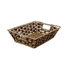 Seagrass Tray Diamond Rectangle Natural (37x28x10cmH)