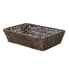 Hamper Tray & Gift Basket - Seagrass Tray Rectangle Dark Brown (33x23x9cmH)
