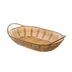 Hamper Tray & Gift Basket - Artificial Rattan Tray Oval Natural (34.5X24X7cm)