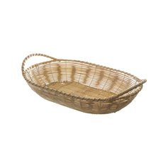 Artificial Rattan Tray Oval Natural (29.5X18.5X6cm)