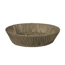 Hamper Tray & Gift Basket - Artificial Wicker Basket Hamper Round Brown (35DX9cmH)