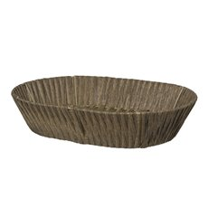 Hamper Tray & Gift Basket - Artificial Wicker Basket Hamper Oval Brown (39X28x9cmH)