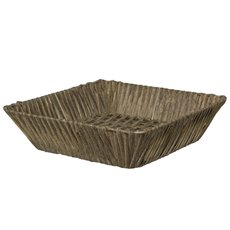 Hamper Tray & Gift Basket - Artificial Wicker Basket Hamper Square Brown (32X32x9cmH)